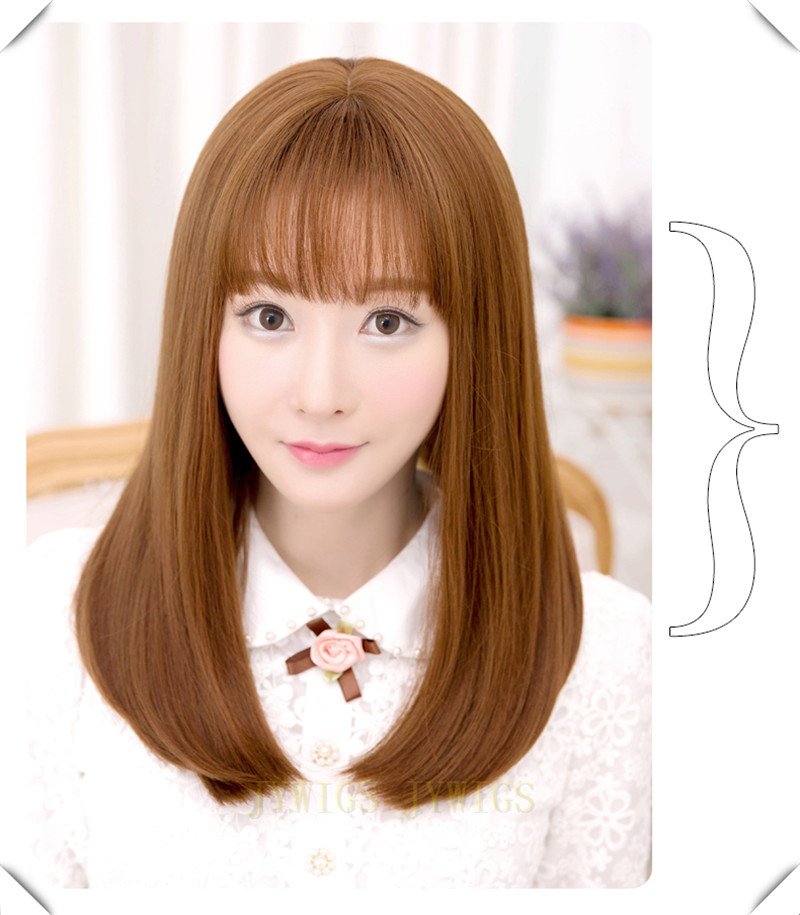 Air Bang Wig Synthetic Women Wavy Hair Party Short Bob Cute Fringe Full Bangs Air Bang Wig(China (Mainland))