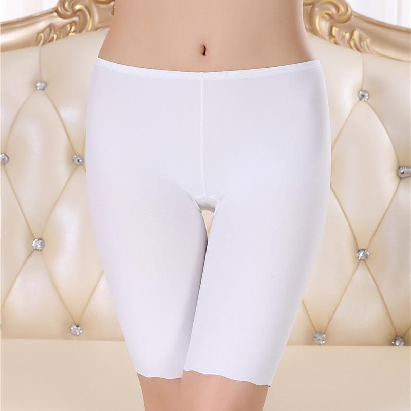 Ice Silk Safety Pants Women Boyshorts Pants Seamless Short Women Five Minutes Black Silk Women Silk Ice Safety Underwear Boxer