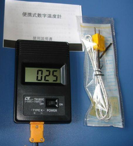 TM 902C Tm902c Digital LCD Type K Thermometer Temperature Single Input Pro Thermocouple Probe detector Sensor Reader Meter(China (Mainland))