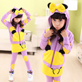 cute causal girl hoodie pants set lovely mickey hooded sweatshirt clothes set for 2 10yrs girls