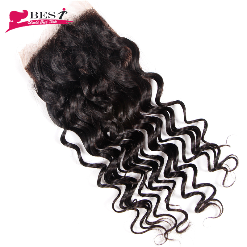 Best Hair Brazilian Deep Wave Closure Human Hair Closure Free Part Brazilian Virgin Hair Deep Wave Closure 1 pc Lace Closure