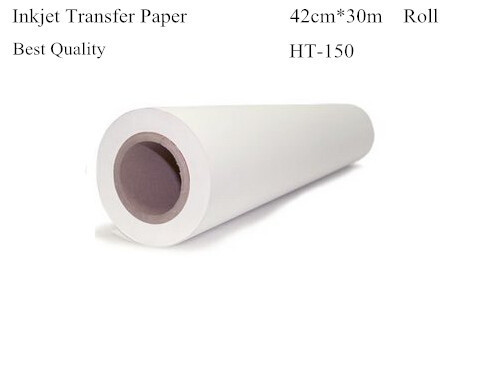 Heat Transfer Paper Roll Size 42cm*30m Light Color Inkjet Heat Transfers For Clothes Papel Transfer Papier Transfert HT-150(China (Mainland))