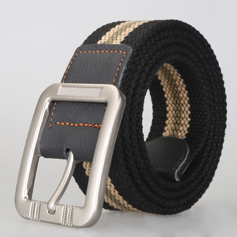 New Arrival Men Canvas Belts Stylish Wearable All-match Male Belts Leisure Strap Casual Striped Belt 6 Colors Wholesale Price(China (Mainland))