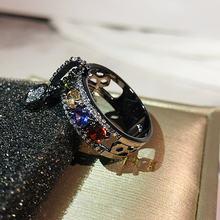 New ARRIVAL VINTAGE Rose Gold Filled แหวนสำหรับผู้หญิงแฟชั่นเครื่องประดับ Luxury White Zircon หมั้นแหว(China)