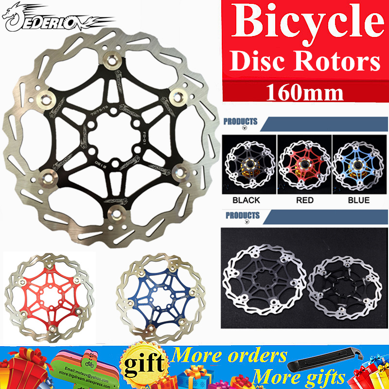"Bicycle Disc Brake DH Brake Float Floating Disc Rotors r 160mm 6"" Red/Blue/Black for MTB Bike Hydraulic Disc Brake Bicycle Pads(China (Mainland))"