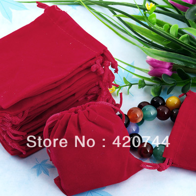 10 Red Velvet Drawstring Jewellery Gift Bags Pouches HOT - 13topstore store
