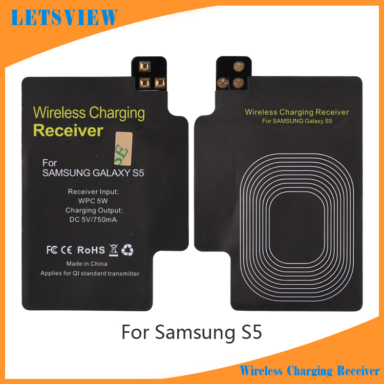 LETSVIEW Qi Standard Wireless Charging Receiver for I9600,Wireless Charger Receiver Card Coil Module for Samsung Galaxy S5 V(China (Mainland))
