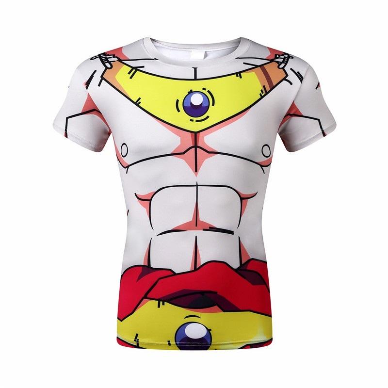 2016 brand fashion dragonball super Isaiah man short sleeve T-shirt bick big devil king sun wukong Foley sand and free shipping(China (Mainland))