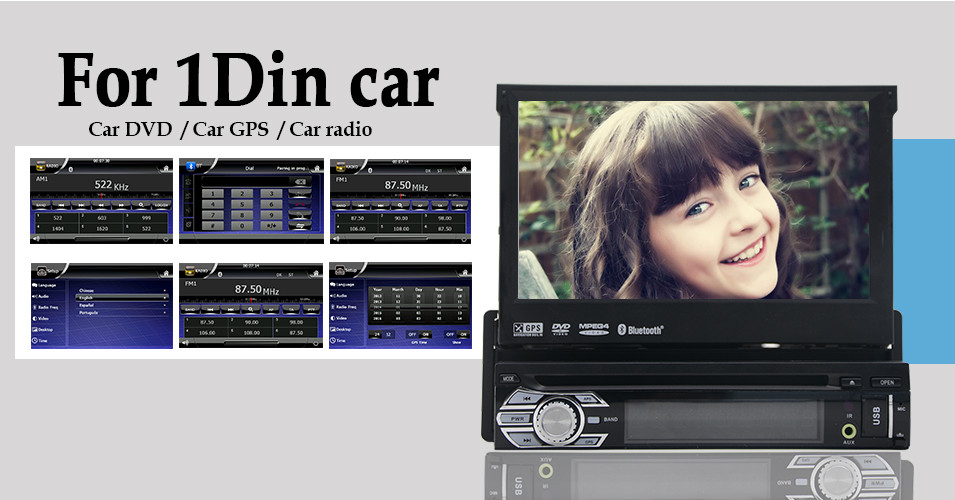 6.2″ Built-in GPS Navi Car Radio Player Double 2 DIN In Dash Car Stereo Player USB built-in Bluetooth DVD Player iPod Audio