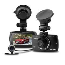 G30B Dual Lens Car DVR with G sensor Cycle Recording H 264 Front camera Full HD