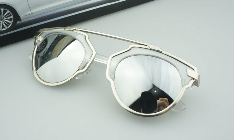 2014 New Brand Design Personality Metal Frame Fashion Women Sunglasses Six Colors Box - Miss Lady CC store