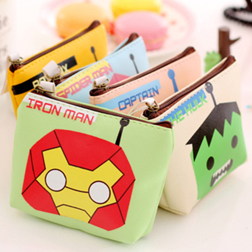 4 pcs/Lot Hero movie coin purse Creative wallet Storage bag for credit card holder Key pouch case organizer zakka 6348(China (Mainland))