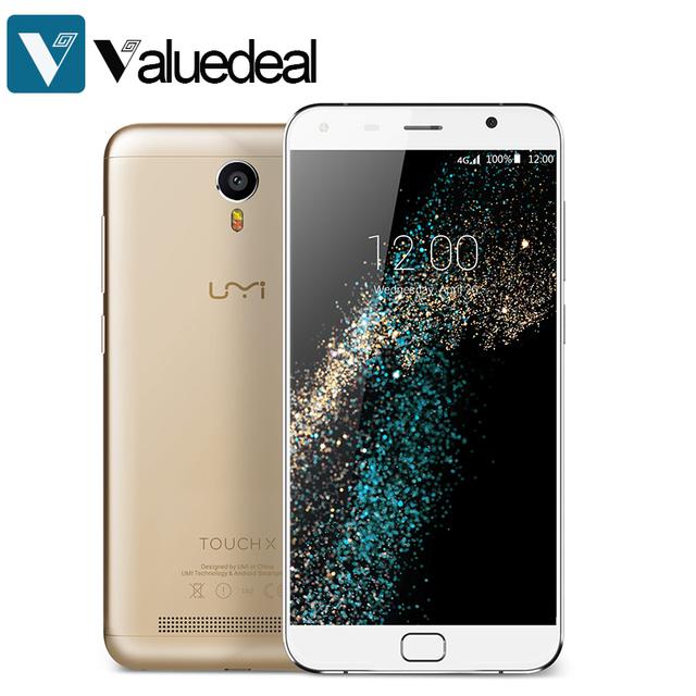 Original UMI Touch X 4G LTE MTK6753A Quad Core 5.5inch 1920x1080P Android 6.0 2GB 16GB 8.0MP 4000mah Mobile Phone