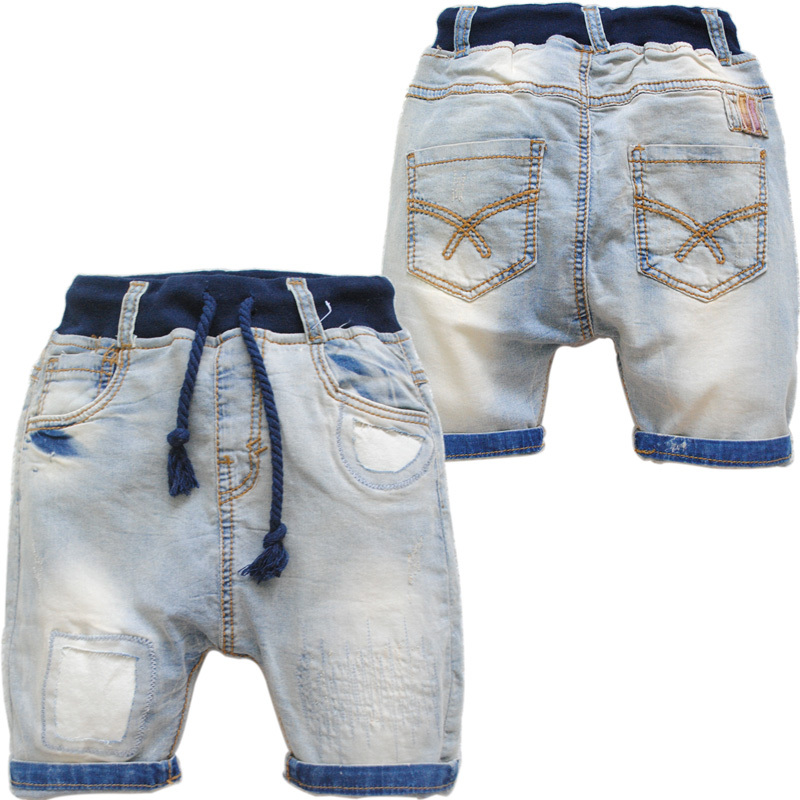 3585  boys girls babies  shorts kids jeans casual   pants summer capris  shorts childrens clothing  denim  trousers  solid <br><br>Aliexpress