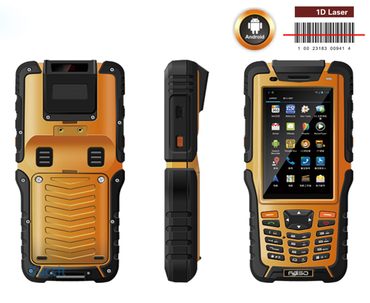 Handheld Terminal Barcode Scanner Android Bluethooth PDA NFC 1D Laser Reader Wireless 3G Data Collector Rugged Waterproof Phone(China (Mainland))