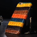 Real Genuine Leather Color Cover Case For iPhone 6 6S Plus Cell Phone Luxury 3D Crocodile