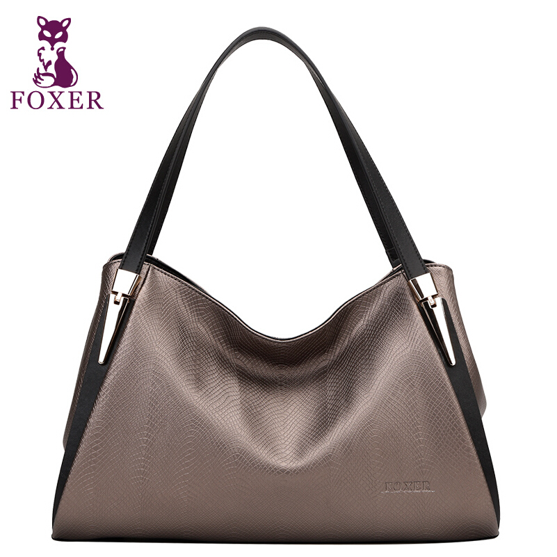 FOXER Famous brand top quality dermis women bag Lizard pattern Fashion shoulder bag Handbag Messenger Bag Crescent package(China (Mainland))