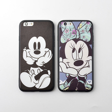 Buy Cartoon Mickey Mouse Minnie Soft Silicon Case Cover iPhone 6 6S Plus Coque Silk TPU Phone Bag Cases iPhone 7 Plus Fundas for $2.03 in AliExpress store