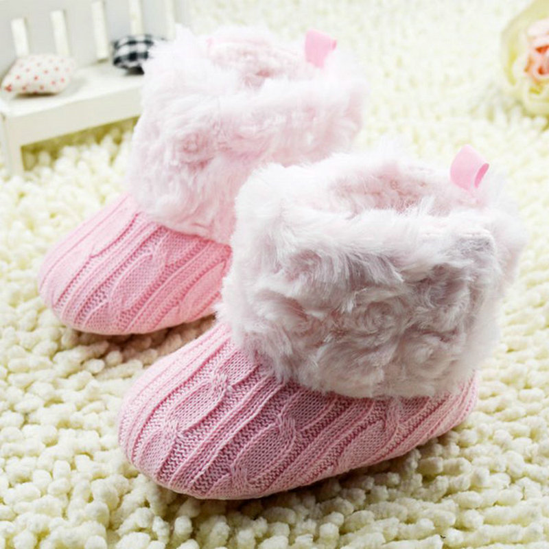 Baby Shoes Infants Crochet Knit Fleece Boots Toddler Girl Boy Wool Snow Boot Crib Shoes Winter Booties(China (Mainland))
