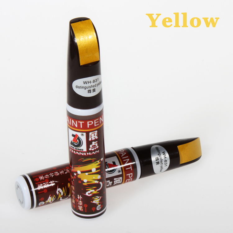 1pc 12ml Yellow Professional Car Paint Repair Pen Universal Waterproof Fix It Pro Car Scratch Clear Remover Pen for Car Care(China (Mainland))