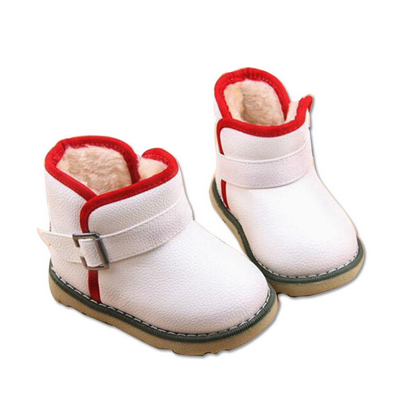 2016 children s snow boots cow leather shoes