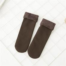 La MaxPa Kış Isıtıcı Kalınlaşmak Termal Yün Kaşmir Kar Çorap Dikişsiz Kadife Çizmeler Kat Uyku Çorap Kadın Erkek k92(China)
