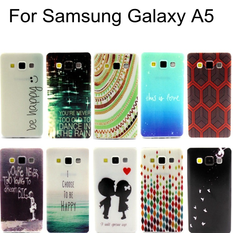 Attractive 2015 Retro Fashion Trend Pattern TPU Case Cover For Samsung Galaxy A5 A5000(China (Mainland))