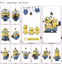 Cute Big Eyes Minions Cell Phone Cases For Samsung Galaxy S4 mini I9190 Case Specially Design Luxury Mulit Plastic Phone Skin
