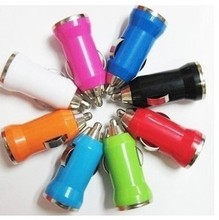 100PC Color Mini USB Car Charger PHONE CHARGER For IPhone 4 4G 3G IPod ITouch HTC Samsung Blackberry Nokia Motorola Auto Adapter(China (Mainland))