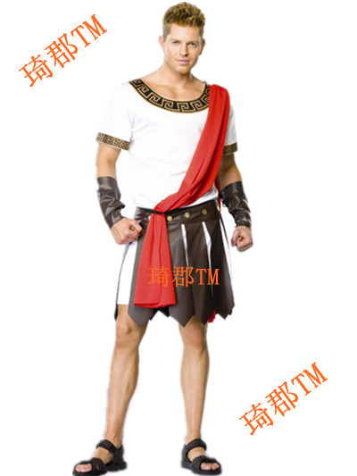 carnival!halloween show warrior costumes for adult men,cosplay Samurai Gladiator costume&Roman generals clothes Caesar dress(China (Mainland))