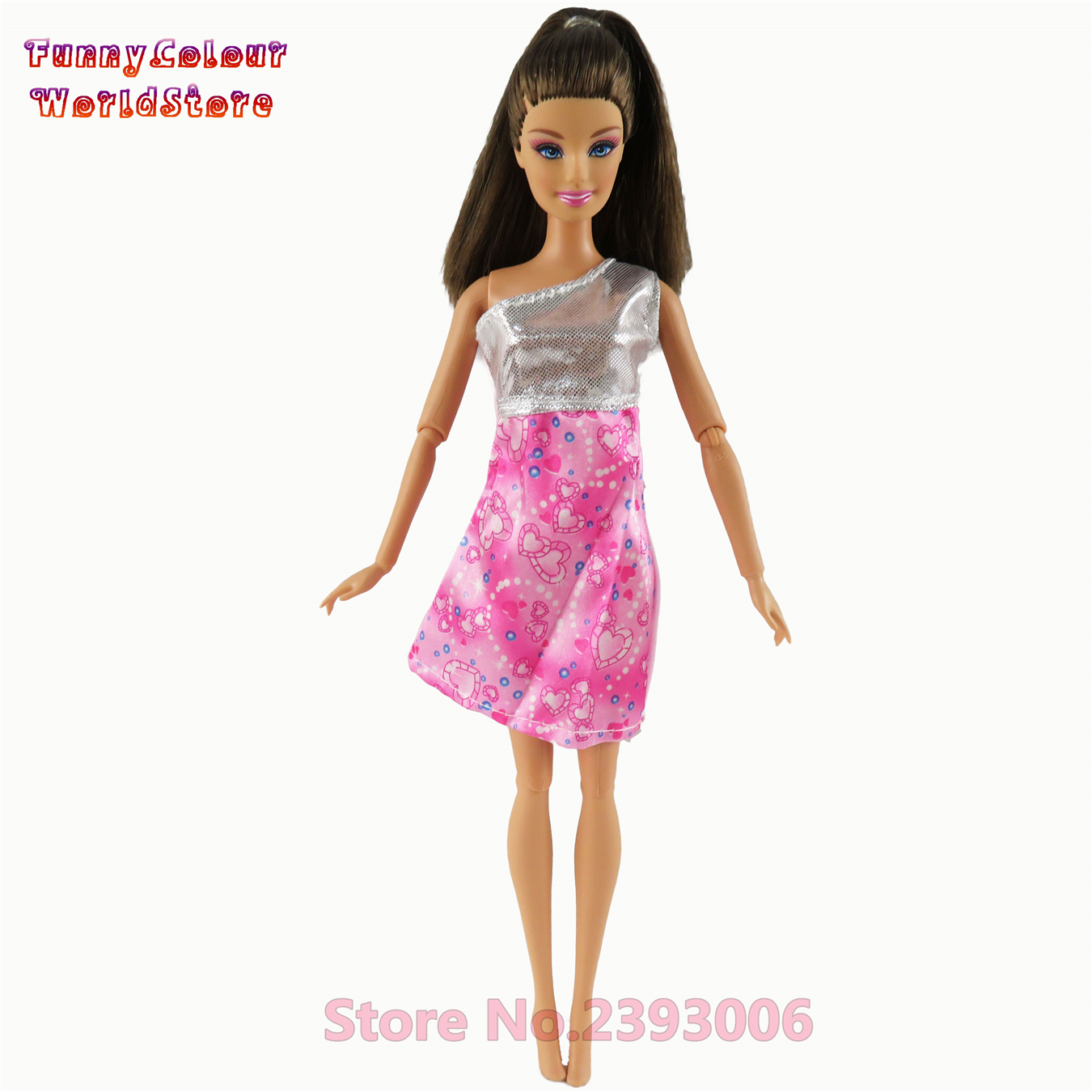 1 Pcs Trend Brief Costume Stunning Handmade Social gathering Outfit Barbie Doll Garments For Barbie Dolls Costume Woman's Reward For Children #013A