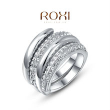 ROXI new arrival  ring ,set with AAA Zircon Crystal ,fashion wedding Jewelry,gift ,2010495400a
