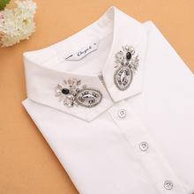 Hot Sale ! Clothes Accessories false collar white & black blouse detachable collars Fashionable joker Diamond shirt