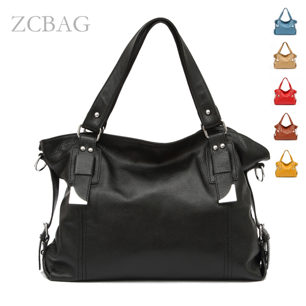 Popular Bolsas Desinger Soft Genuine Leather Cowhide Ladies Handbag Women Fashion Shoulder Tote Bag Sathel Purse Silvery Metal(China (Mainland))