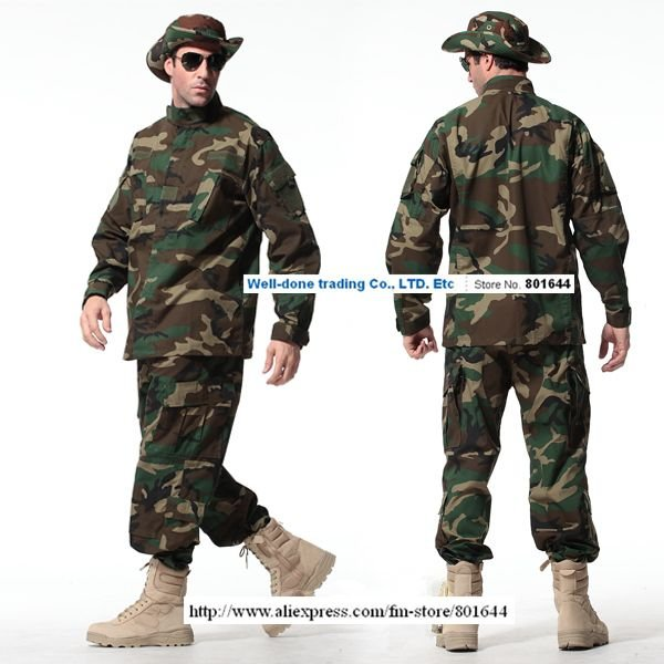 WOODLAND BDUS,Paintball uniform,US army uniforms,airsoft game,coat&pants set+