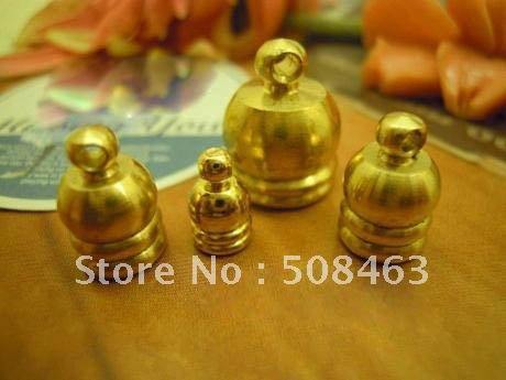 Ship Free ! 200pcs 10x14mm Bead Caps  gold tone brass material Necklace End Tip Bead Caps