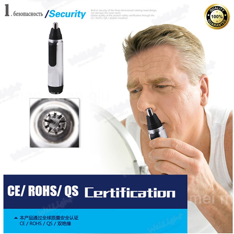 Hot selling nose trimmer for nose brand electric trimer cleaner for nose and ear for men nose trimmer 0 shipping fee(China (Mainland))