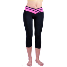 2016 Hot Fitness Sport Running Pants Women Solid Stretch Jogging Cropped Leggings S-XL