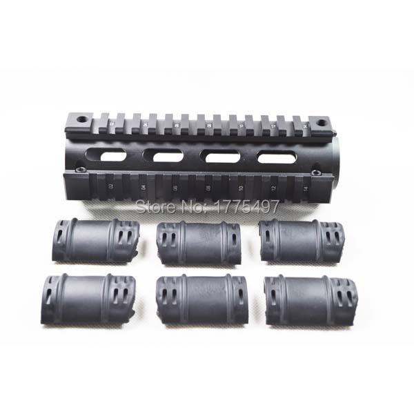 ALUMINUM AR15 M4 Rifle Carbine 6.7inch Length Weaver/Picatinny Quad Rail Handguard - Pro OutdoorKing store