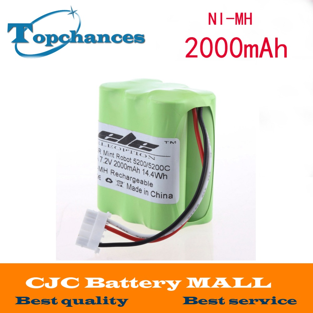 Top Sale 7.2V 2000mAh Vacuum Cleaner Rechargeable Battery For Mint 5200 5200C Free Shipping(China (Mainland))