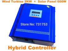 Buy Wind&Solar Hybrid Controller With Communication LCD Display For Wind Turbine2KW + PV Model 600W For Off-grid System for $458.47 in AliExpress store