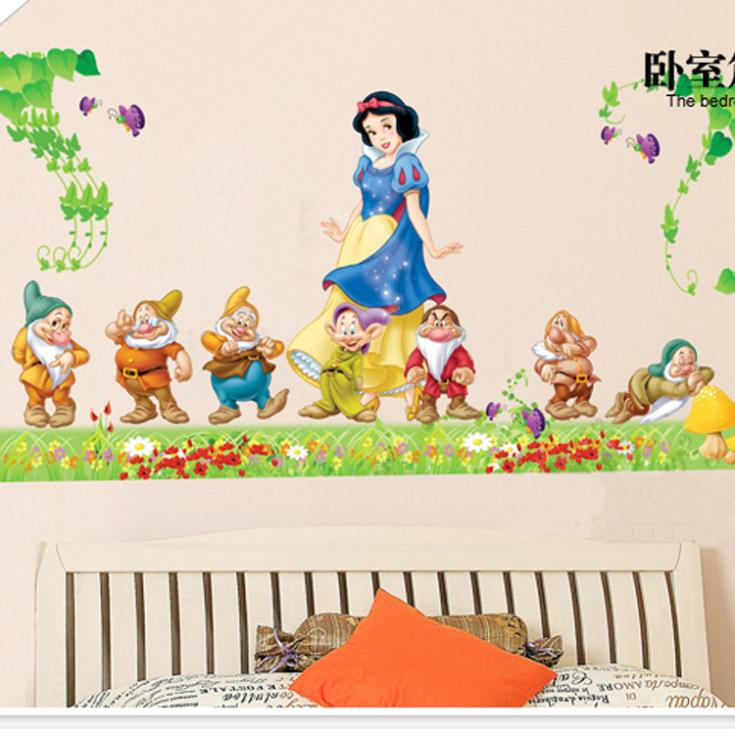 Princess Snow White Home Decor art wall stickers kids rooms diy family decoration vinyl poster mural bathroom mirror decals - Davesion Electronic Co.,Ltd store
