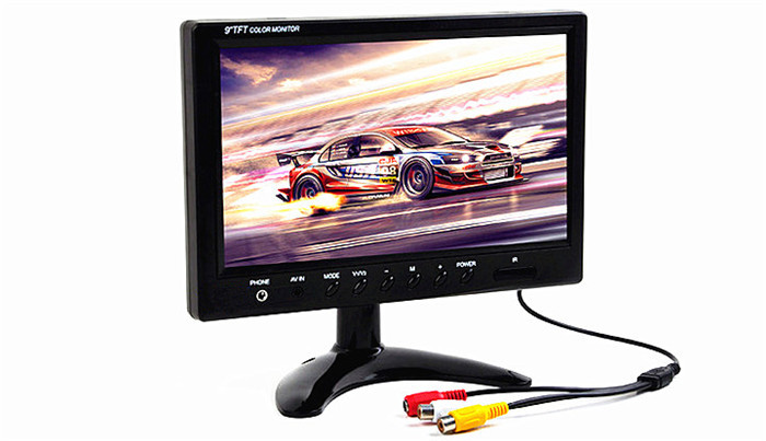 "9"" TFT LCD display color Car Auto automotive Monitor 2 video input for Car Truck Bus DVD Backup Rear View reversing Camera"