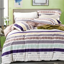 2016 New black and white striped comforter sets chinese bedding set duvet cover cotton furniture covers queen size  bed linen(China (Mainland))