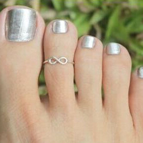 Fashion Luckiness Delicate Scintillant Hollow Lady Unique Retro Silver Plated Nice Toe Ring Foot Beach Jewelry Hot Women - YiWu-Love Me Store store