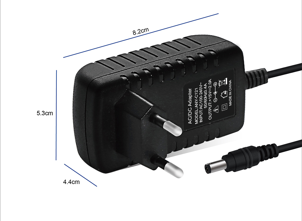 Annaiyuan 1PCS high quality 15V2A AC 100V-240V Converter Adapter DC 15V 2A 2000mA Power Supply US Plug 5.5mm x 2.1-2.5mm