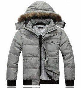 promotion , Fur Collar Men's winter down overcoat, Casual Outwear, Winter jacket, 2 colors, L-XXL, wholesale