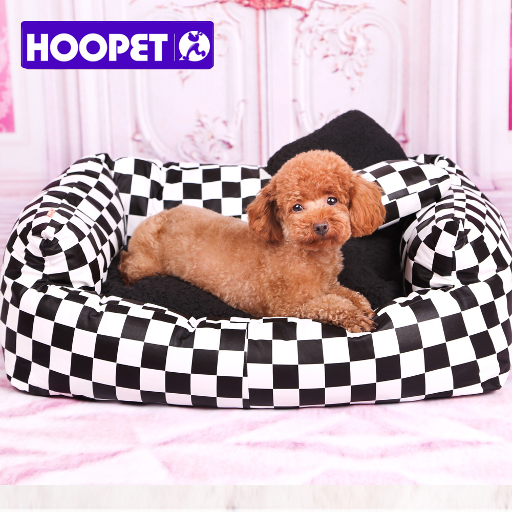 HOOPET international style small dog teddy high quality pu leather waterproof bed kennel easy for washing free shipping # T(China (Mainland))