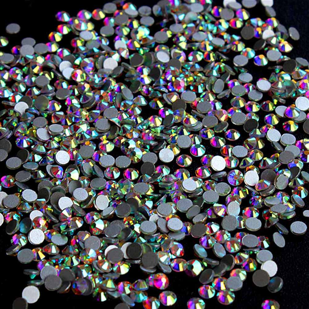 Супер блеск Стразами Crystal AB SS3 SS10 не заплатка с плоской задней поверхностью шитье aeProduct.getSubject()