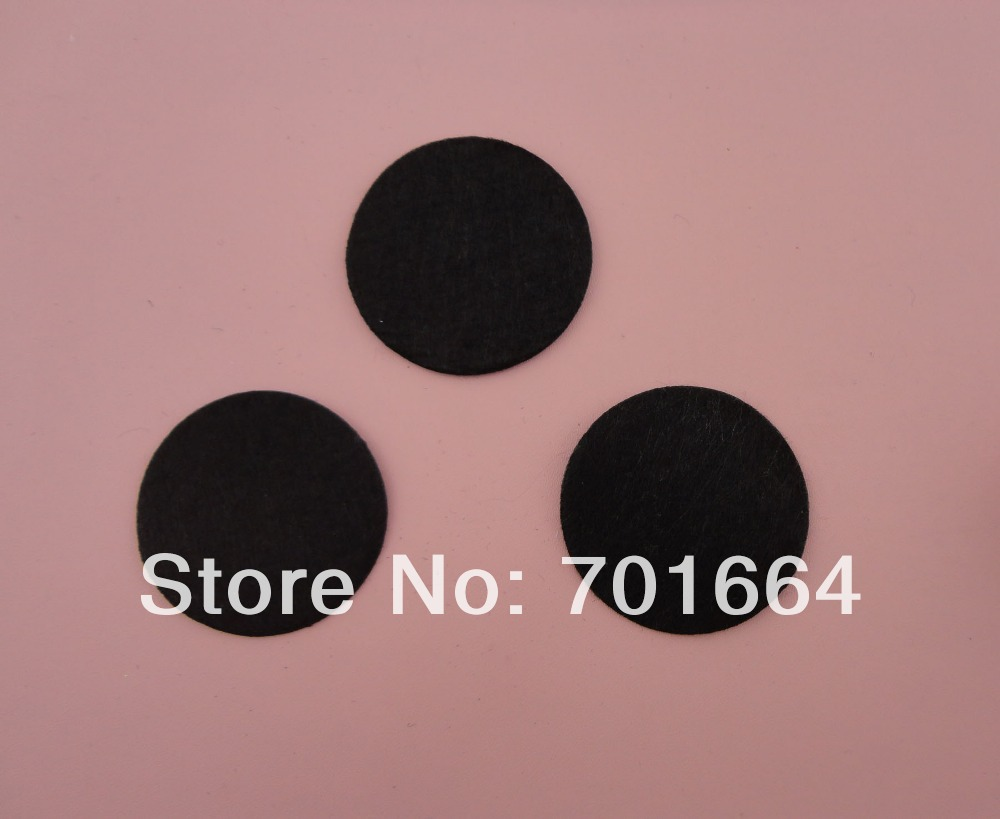 500PCS 4.5cm 1.75inches black round felt pads for flower and brooches' back, round felt spacers,non-woven Circles(China (Mainland))